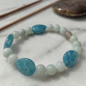 Jewelry - Blue Amazonite gemstone bracelet